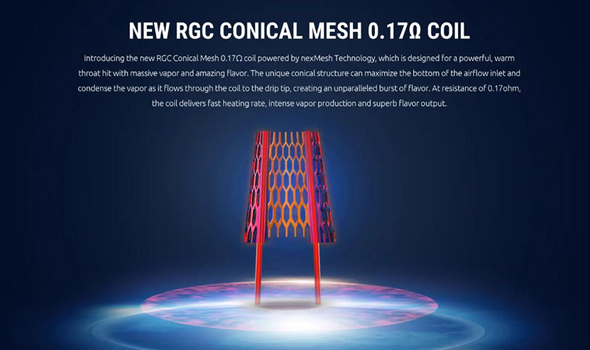SMOK RGC Replacement Coil New RGC Conical Mesh 0.17ohm Coil.jpg