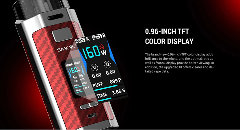SMOK RPM160 Pod System Kit TFT Screen