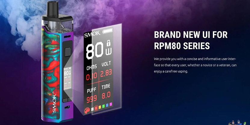 SMOK RPM80 Pro Kit Features 2