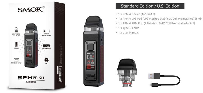SMOK RPM 4 Kit Package