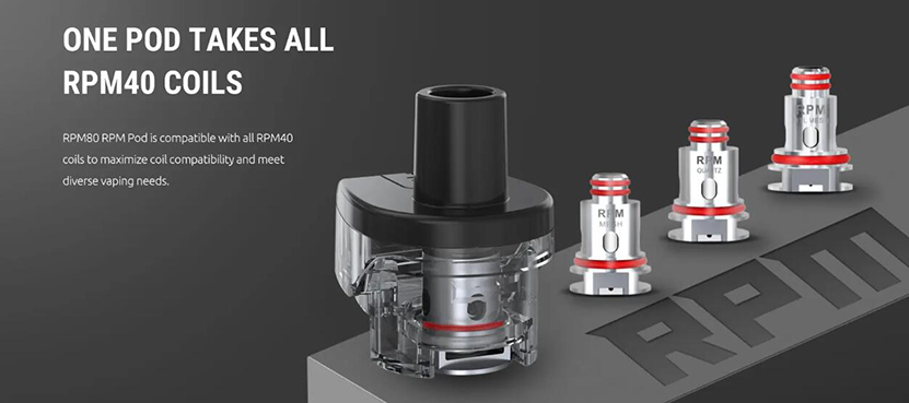 SMOK RPM Empty Pod Cartridge Compatible with all RPM40 coils