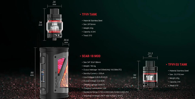 SMOK SCAR-18 Kit Feature 10
