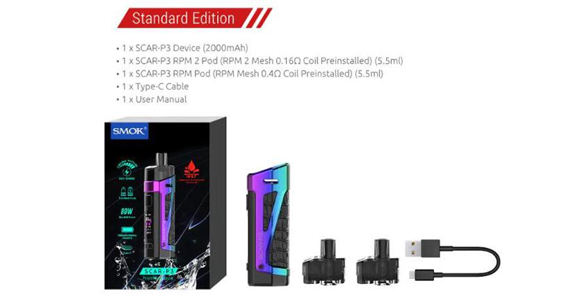 SMOK SCAR-P3 Kit Content