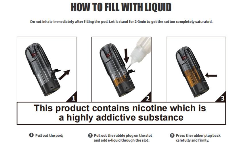 SMOK SOLUS Pod Cartridge Use