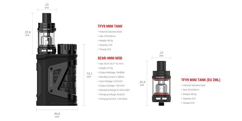 SMOK Scar-Mini Kit Feature 12