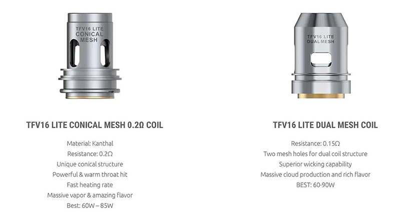 SMOK TFV16 Lite Replacement Coil 3pcs Features