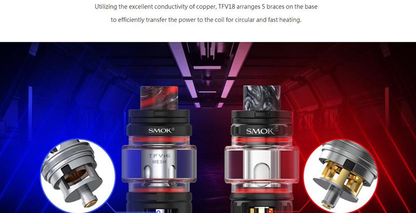 SMOK TFV18 Tank Feature 1