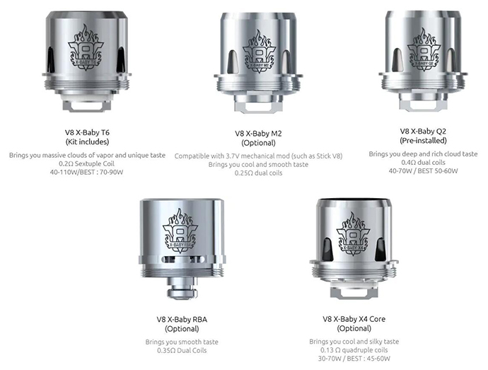 SMOK TFV8 X-Baby Replacement Coil 5 types