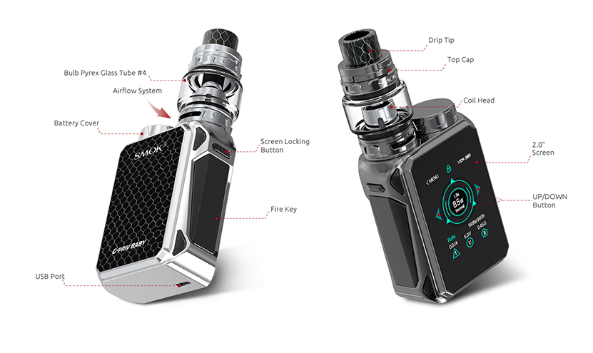 SMOK G-Priv Baby Luxe Edition Kit Feature 4
