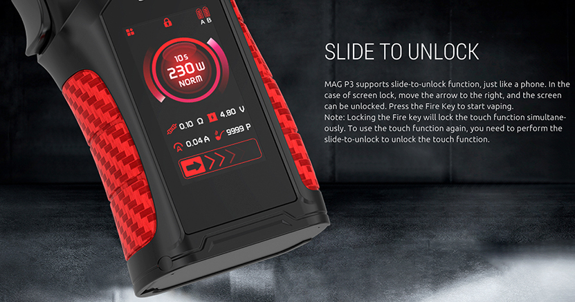 MAG P3 230W Box Mod Slide To Unlock