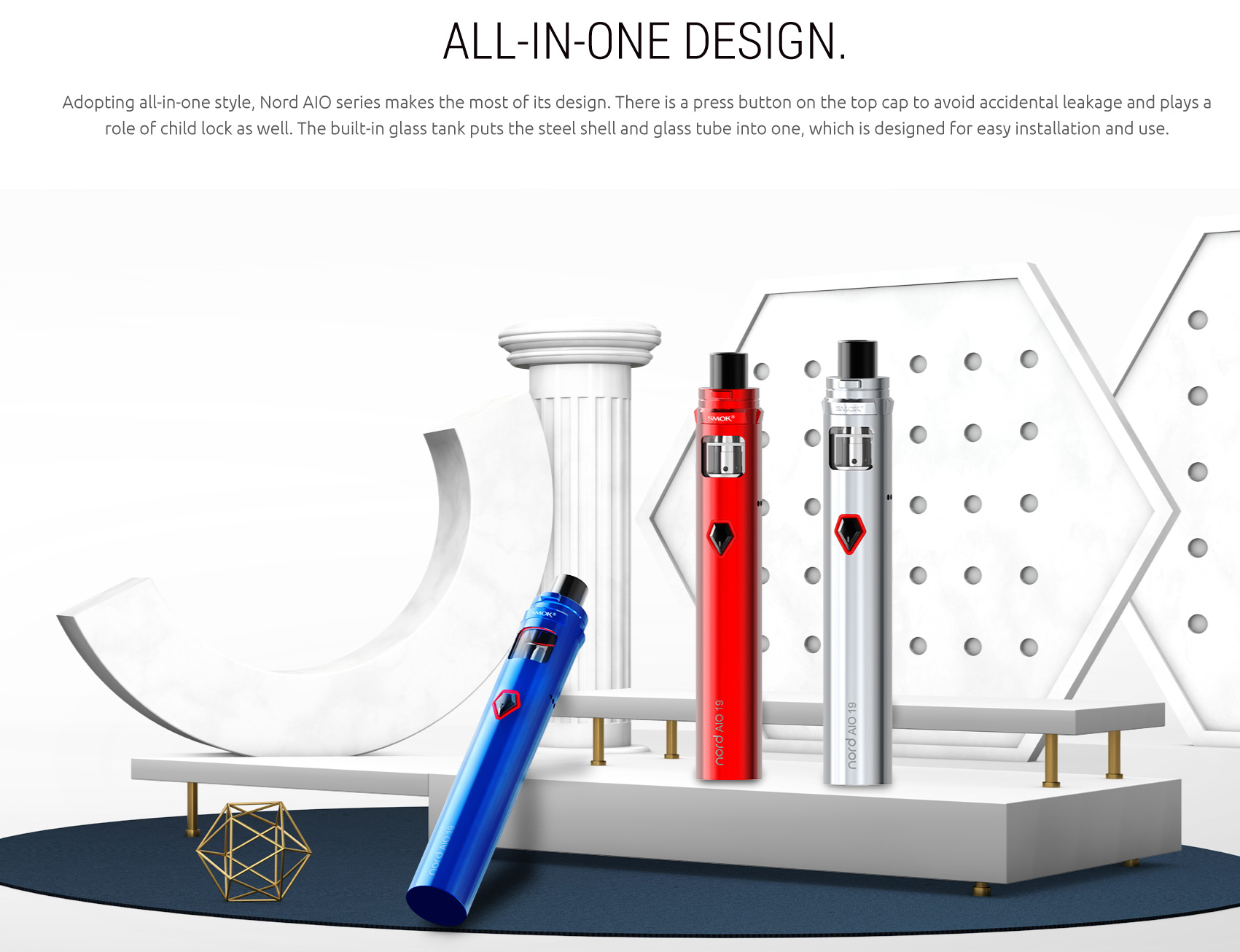 SMOK Nord AIO 19 Kit AIO Design