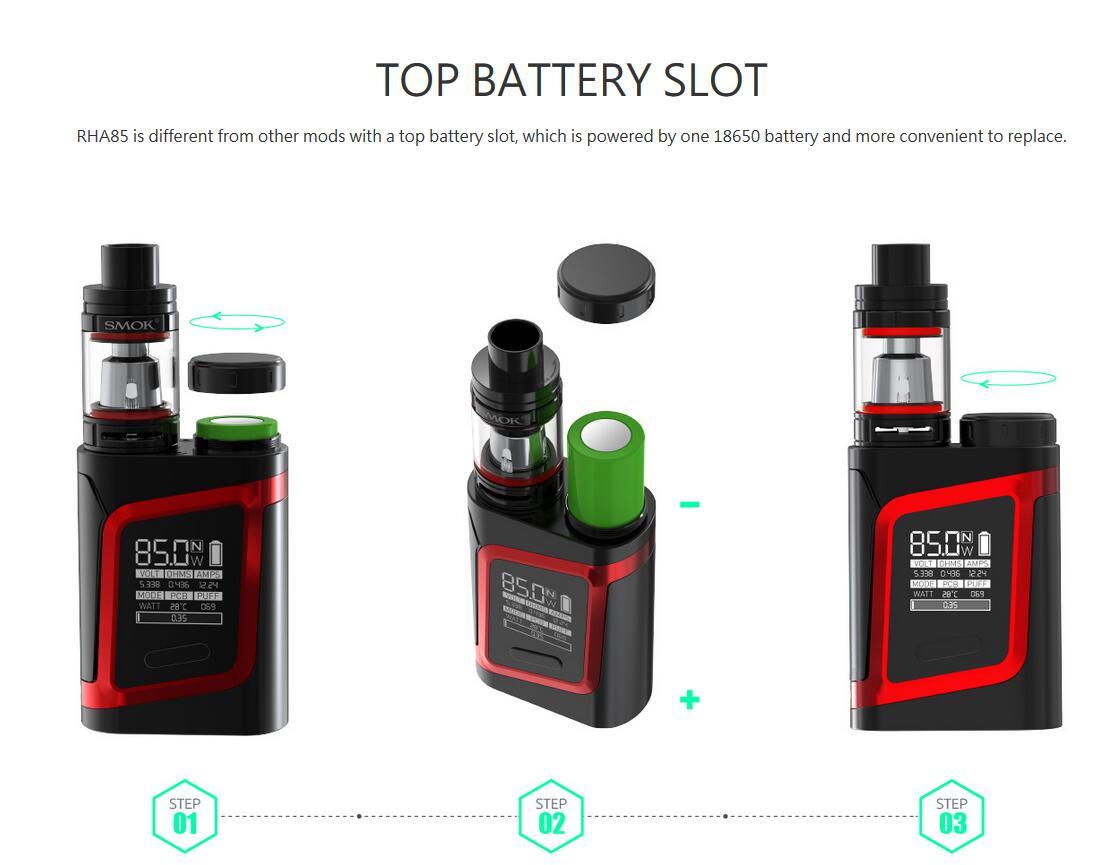 SMOK RHA85 Kit TPD Editon Features 2