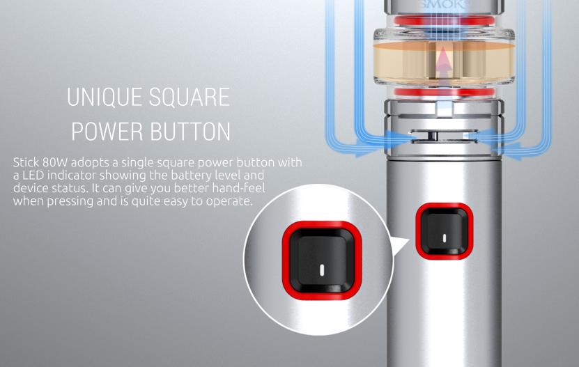 SMOK Stick 80W Pen Kit Button