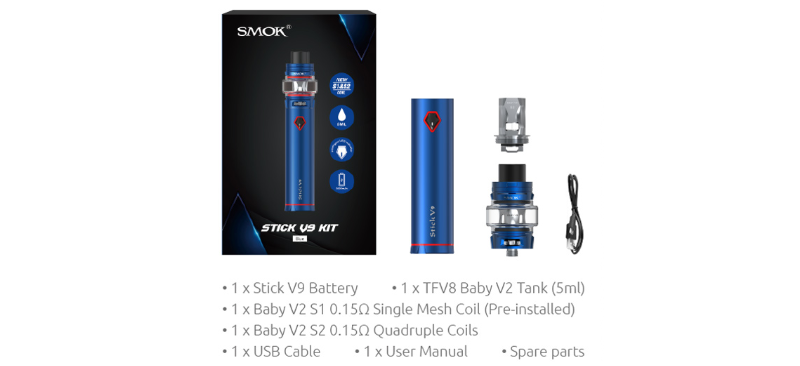 SMOK Stick V9 Kit Package
