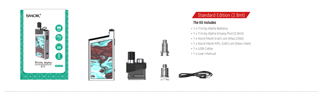 SMOK Trinity Alpha Pod System Kit 2.8ml