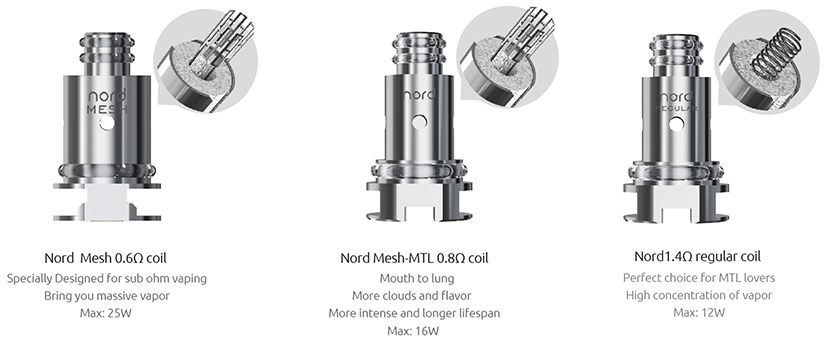Vape Pen Nord 19 Tank Vape Tank Features 02