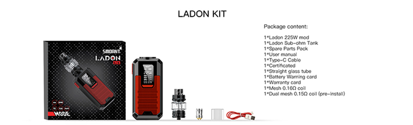 Smoant Ladon AIO 2in1 Kit Package