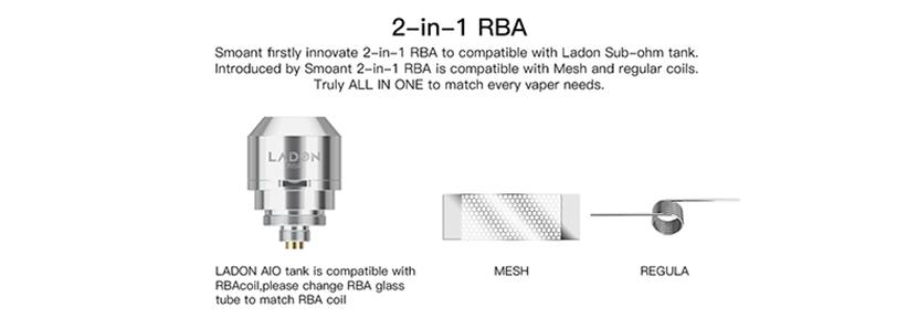 Ladon AIO Box Mod Kit RBA Coil