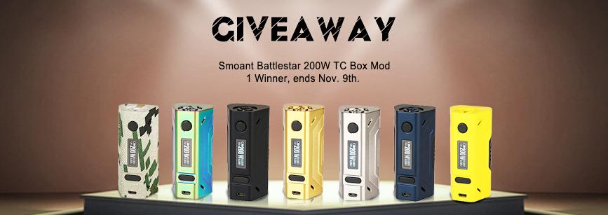 [Image: Smoant_Battlestar_200W_TC_Box_Mod_Giveaway.jpg]