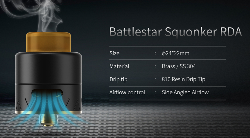 Smoant Battlestar Squonker RDA Parameters