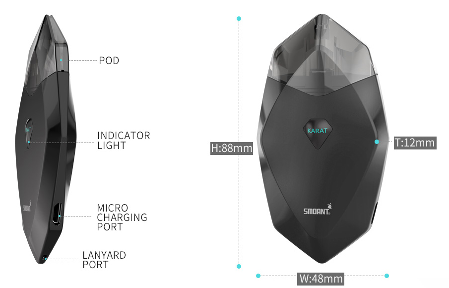 Smoant Karat Pod Kit Features 1