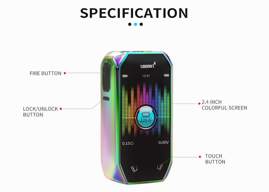 Smoant Naboo 225W Vape Kit Features 02