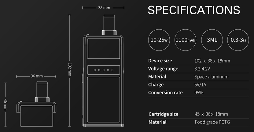 Smoant Pasito Pod System Features 01