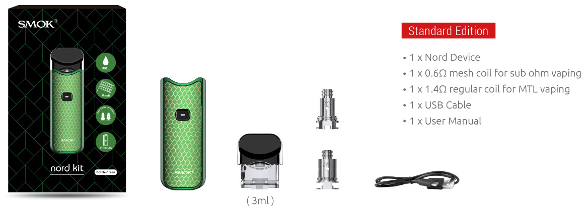 SMOK Nord Vape Pod Kit Features 2