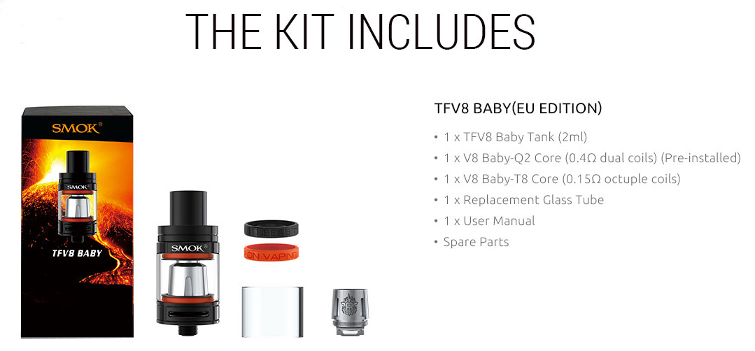 TFV8 Baby TPD Features 1