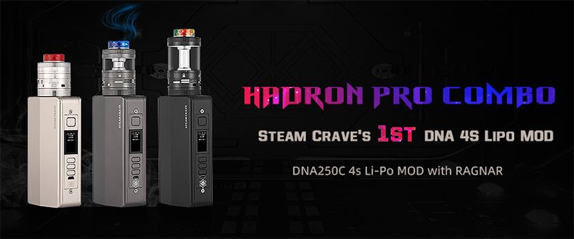 SteamCrave Hadron Pro DNA250C Combo Kit feature
