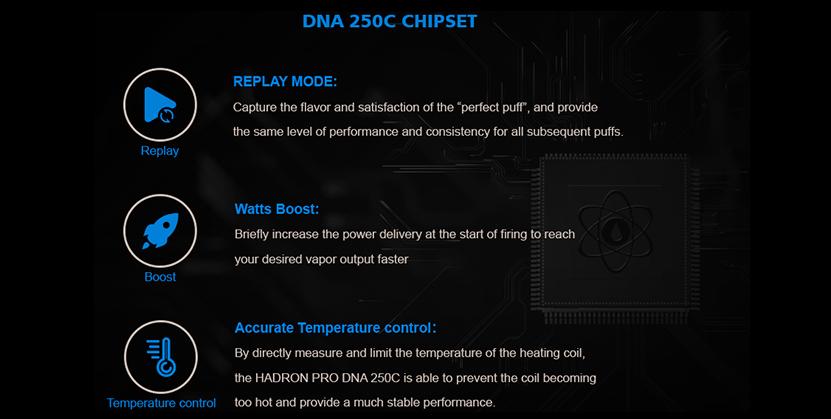 SteamCrave Hadron Pro DNA250C Mod chipset