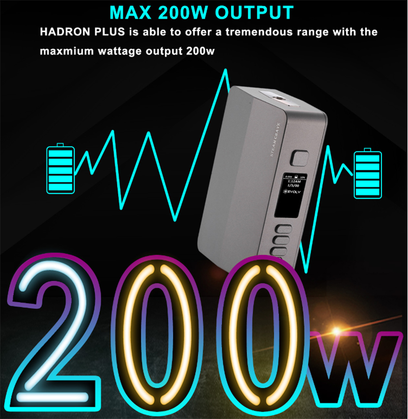 Steam Crave Hadron Plus DNA250C 200W Mod
