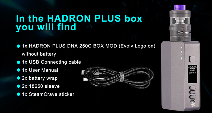 Steam Crave Hadron Plus DNA250C Mod Package