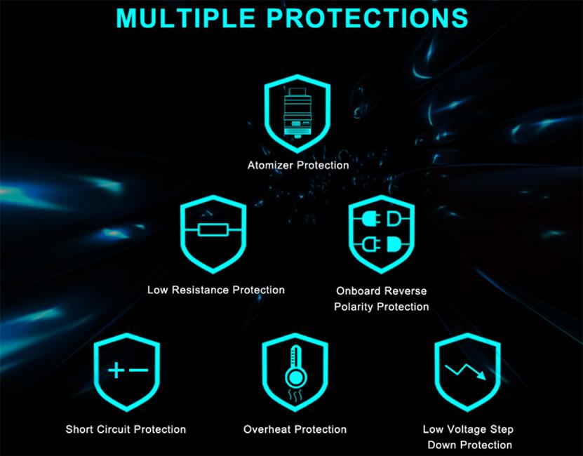 Steam Crave Hadron Plus DNA250C Mod Protections