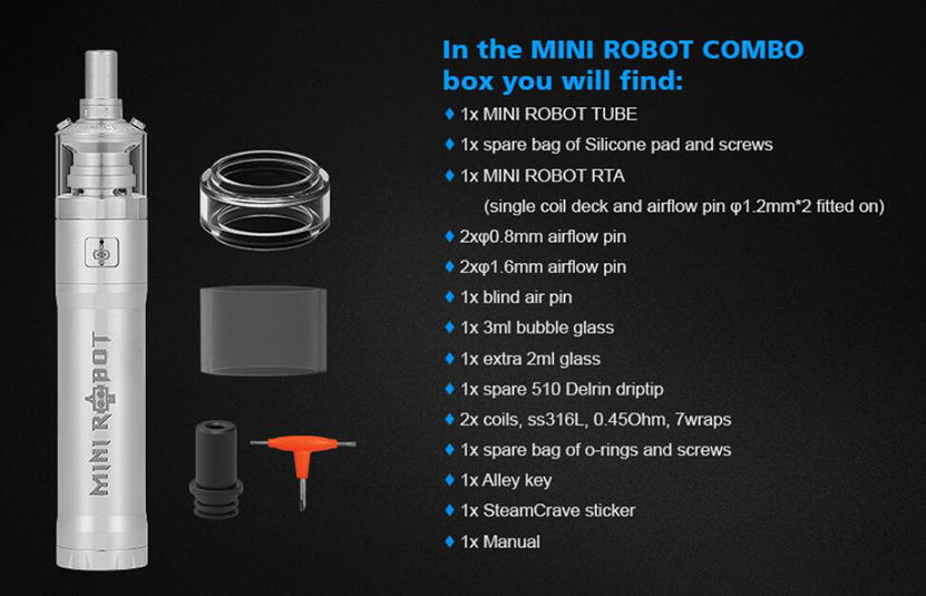 Steam Crave Mini Robot Combo Package