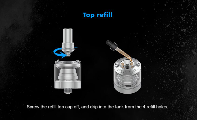 Steam Crave Mini Robot Combo MTL Kit Top Refill