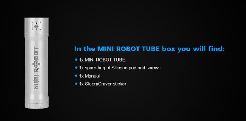 Steam Crave Mini Robot Tube Package