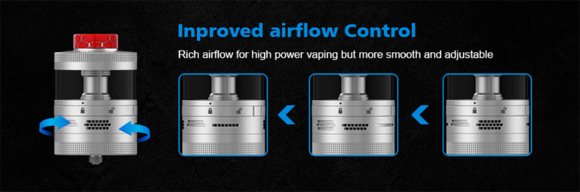 Steam Crave Titan RDTA airflow