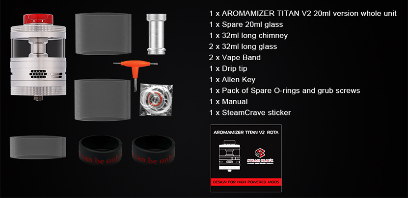 Steam Crave Titan RDTA package