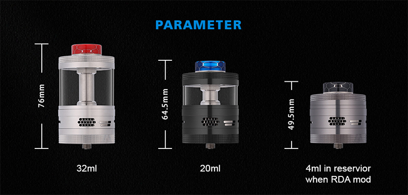 Steam Crave Titan RDTA parameter