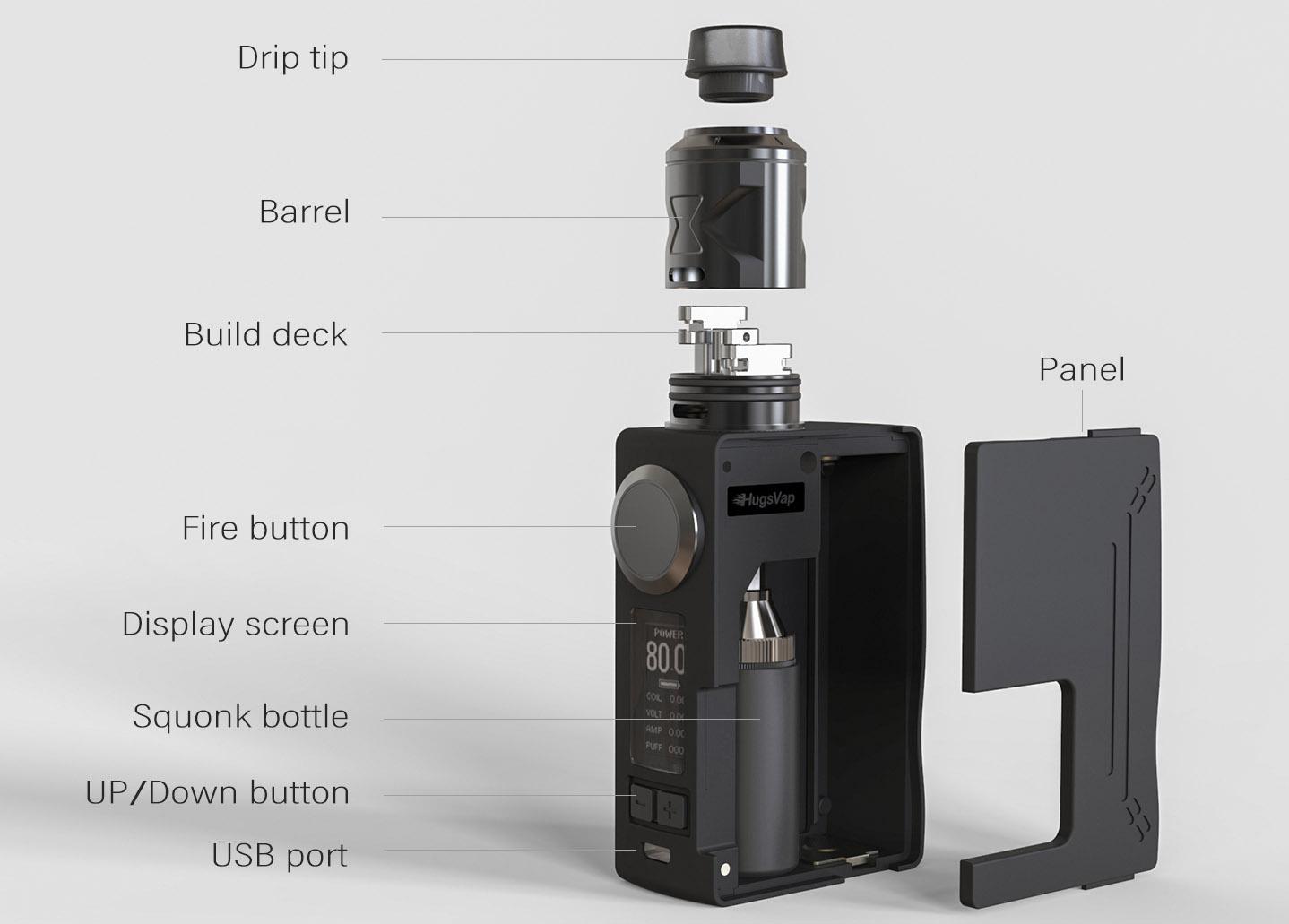 Hugsvape Surge Squonk Kit Feature 12