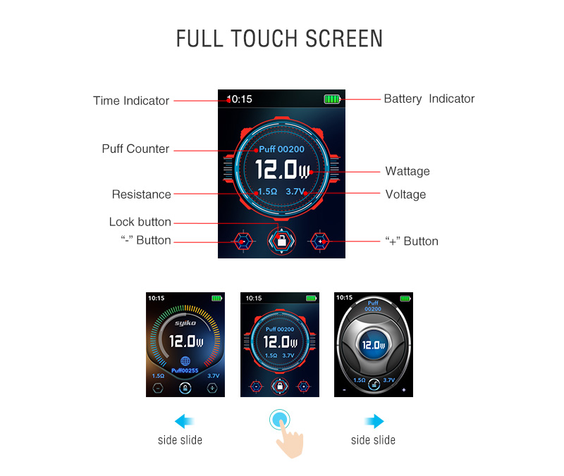 Syiko SE Pod System Kit Screen