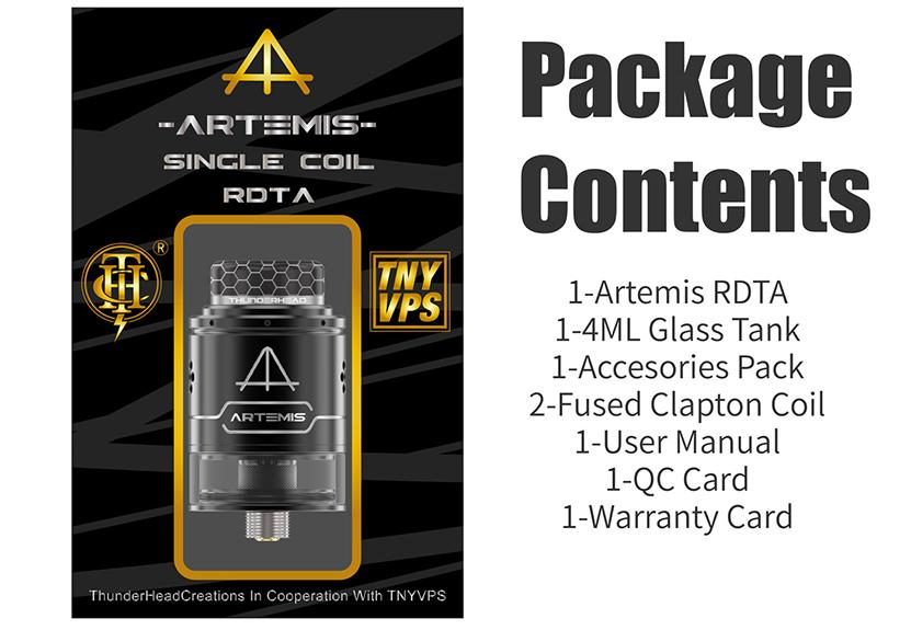 THC Artemis RDTA V1.5 Package