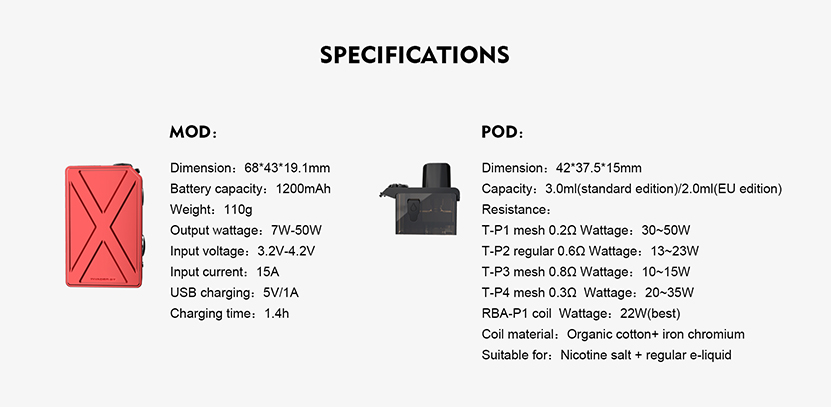 Tesla Invader GT Pod Kit Feature 14