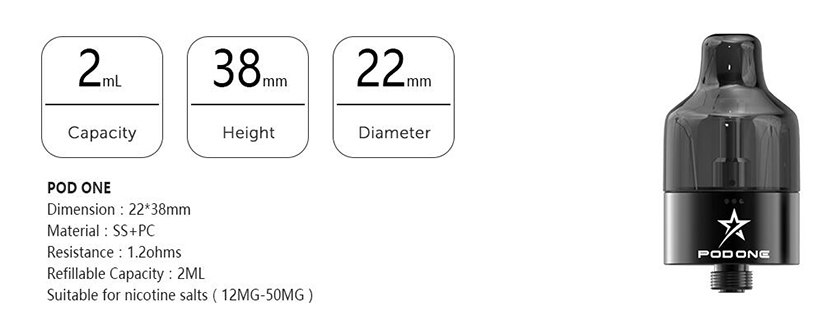 Tesla Falcons Starter Kit Atomizer Specifications