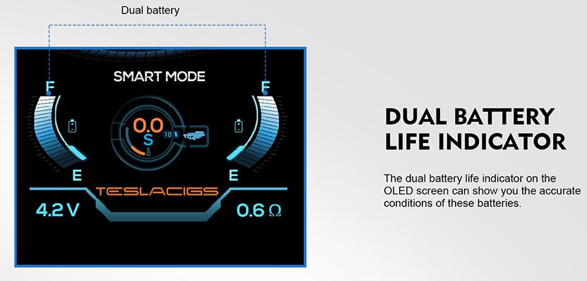 Teslacigs Shinyo Kit Battery Life Indicator