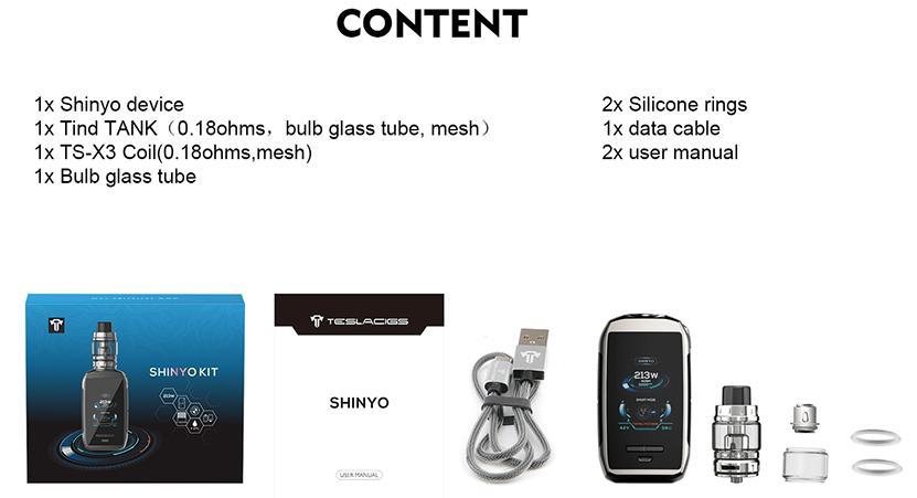 Tesla Shinyo Packing Contents