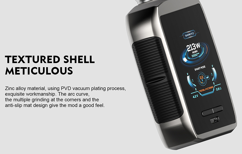 Tesla Shinyo Vape Mod Textured Shell