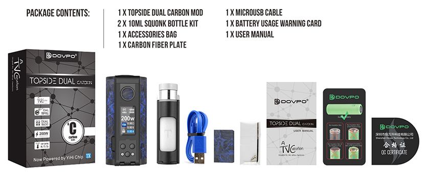 Topside Dual Carbon Mod Package