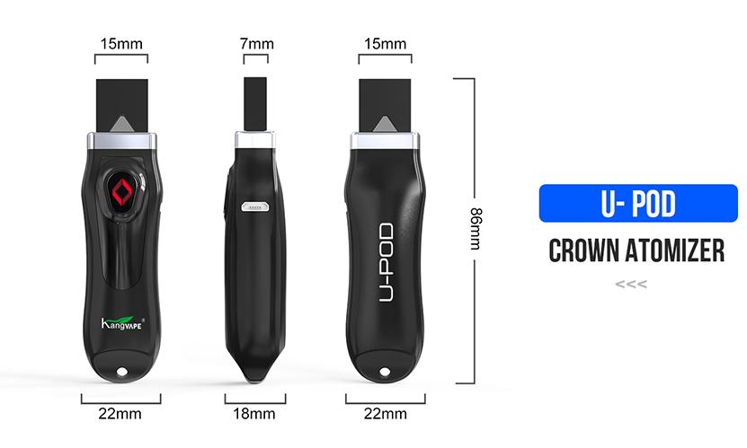U-Pod Starter Vape Kit Size